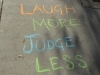 laugh more judge less